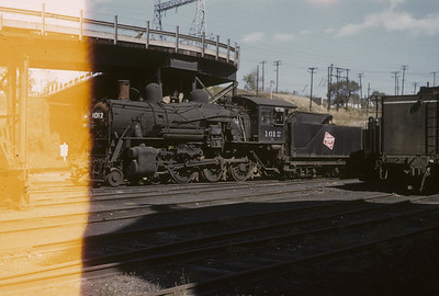 2016.020.02.1955-06--neubauer 35mm kodachrome--CMStP&P--steam locomotive 4-6-0 1012 at shops--Milwaukee WI--1955 1000