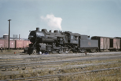 2016.020.02.1955-03--neubauer 35mm kodachrome--CMStP&P--steam locomotive 2-8-0 1258 switching in yard scene--Milwaukee WI--1955 1000
