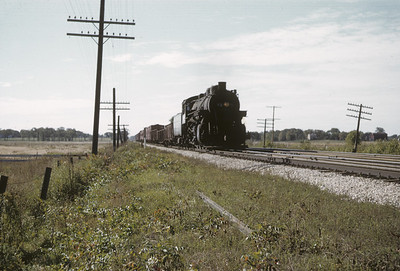 2016.020.02.1955-11--neubauer 35mm kodachrome--CMStP&P--steam locomotive 436 on work train--Brookfield WI--1955 1000