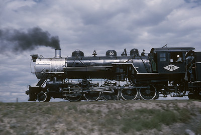 2016.020.54.31--jim neubauer 35mm kodachrome--GW--NRHS Convention fantrip runby with 2-10-0 steam locomotive 90--location unknown--1963 0900