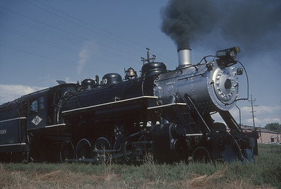2016.020.54.25--jim neubauer 35mm kodachrome--GW--NRHS Convention fantrip runby with 2-10-0 steam locomotive 90--location unknown--1963 0900