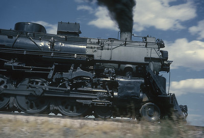 2016.020.54.14--jim neubauer 35mm kodachrome--CB&Q--NRHS Convention fantrip runby with steam locomotive 4-8-4 5632--location unknown--1963 0900