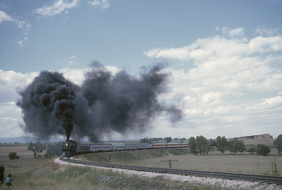 2016.020.54.12--jim neubauer 35mm kodachrome--CB&Q--NRHS Convention fantrip runby with steam locomotive 4-8-4 5632--location unknown--1963 0900