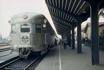 2016.020.07.01--jim neubauer 35mm kodachrome--AT&SF--obs car on hind end of Golden State passenger station--Bakersfield CA--1957 0000