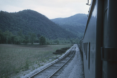 2016.020.23.09--jim neubauer 35mm kodachrome--SOU--view from Carolina Special passenger train en route to Asheville--location unknown--1968 0500