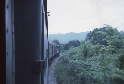 2016.020.23.08--jim neubauer 35mm kodachrome--SOU--view from Carolina Special passenger train en route to Asheville--location unknown--1968 0500