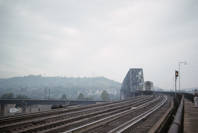 2016.020.23.19--jim neubauer 35mm ektachrome--SOU--Carolina Special passenger train on bridge--Cincinnati OH--1968 1000