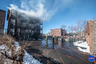 2nd Alarm Structure Fire - 100 Edward St, Hartford, CT - 2/19/19