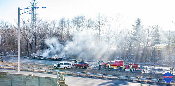 Tanker Truck Fire - I-91 North, Rocky Hill, CT - Unknown Date