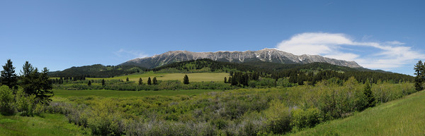 Bridger Mountains Panoramic