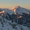 Big Sky / Lone Peak / Moonlight Basin at sunrise - Aerial Photo