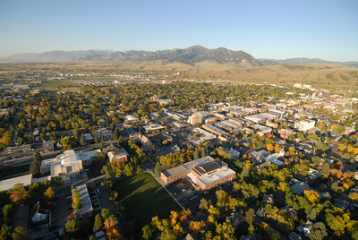 Downtown Bozeman Aerial Image