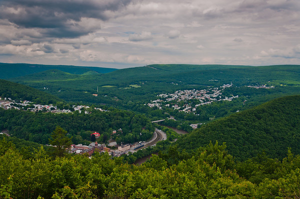 View from Flagstaff Mountain, Jim Thorpe, Pennsylvania