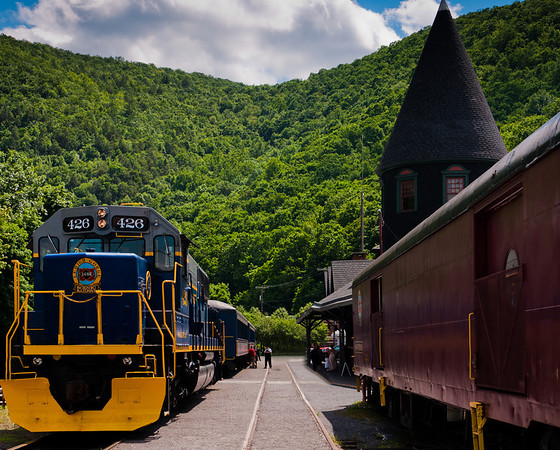 Trains at Mauch Chunk Station, Jim Thorpe, Pennsylvania