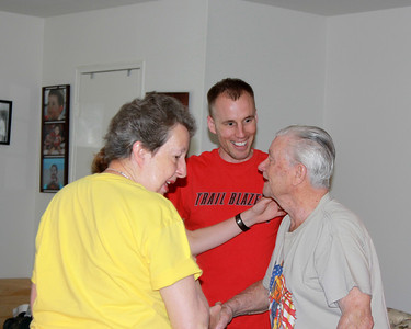 Granny and Grandpa arrive and meet Erinn for the first time