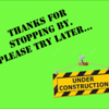 Sometimes you will see this sign when your editor is working to update a photo or gallery.