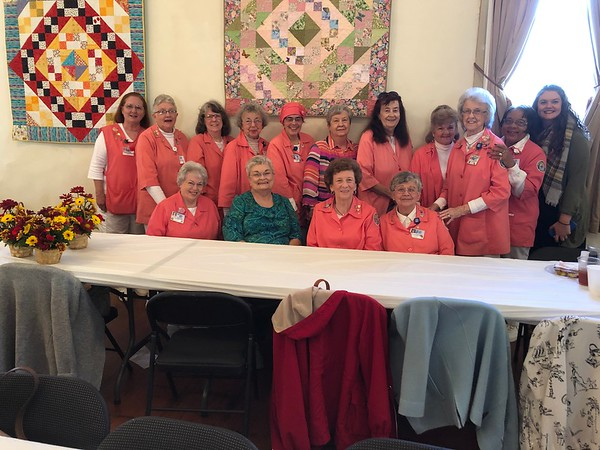 The Henry County Medical Center volunteers ('Pink Ladies') gathered for a group photo.