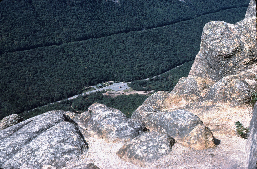 View of Franconia Notch from the Webster Cliff Trail.