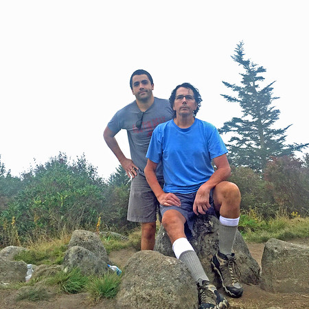 Another generation of  father and son, Frank and Randy Lacey, hiking in the  Appalachian Mountains has begun.