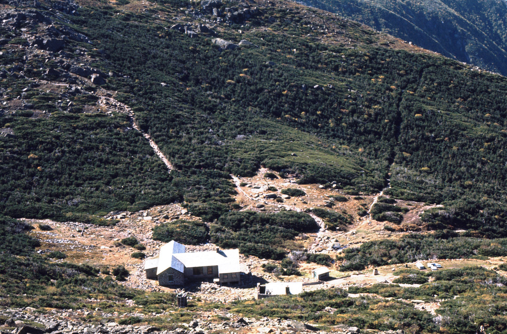 Lake of the Clouds Hut, Mt Washington NH in the White Mountains. The High Huts of the White Mountains are eight mountain huts in the White Mountains, in the U.S. state of New Hampshire, owned and maintained by the Appalachian Mountain Club.