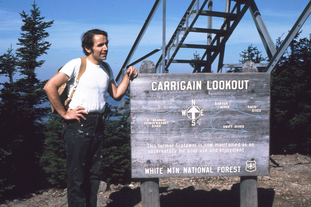 There is a fire lookout tower here affording excellent views of the surrounding mountains.