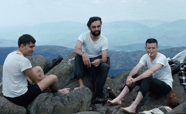 While at RCA, Burlington MA, these 3 friends and I climbed Mt. Mooslauke in the spring.