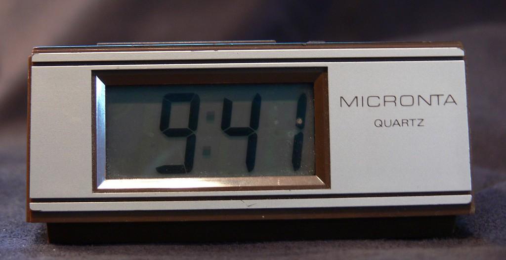 Radio Shack MICRONTA Quartz clock, p/n 63-745, purchased at least 20 years ago. Most of the time this clock was in an unheated New England garage or in a summer screen house. It has run using only 3 AA batteries (the clock uses one battery) during continuous operating lifetime. During that time, and currently, this amazing clock has gained only 18 minutes!