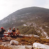 Smile everyone! Photo of (photo of) hikers in the NH White Mountains.