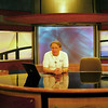 While visiting Mary Lacey's niece Rosalind Puhalla, we were given an in-depth tour of Channel 10, Tampa where Roz worked as graphics designer. Seeing the news desk I assumed the posture of newscaster only to see the teleprompter running - so I read some of the news, well received but I didn't get the job!