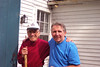 Taken at an annual NH Wool Tour, Mr. Hennesy (of the Wool Room) and Jim Lacey enjoy the day.