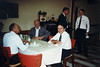 Celebrating my 20th anniversary at GenRad, October 28, 1991. Two years later, I retired. With me are at my right Dr. John [Doc] Hersh, across table Don Marchant, standing Henry Hall (in jacket) and Mike Berg.