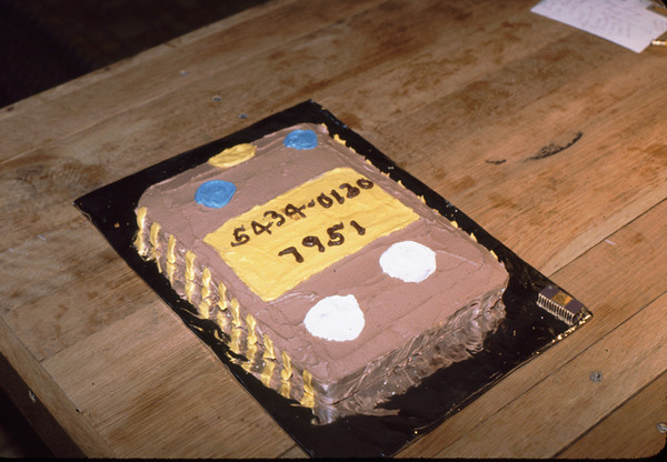 While at GenRad, we developed our first custom integrated circuit (IC or 'Chip', part number 5434-0130) here celebrated with a cake made by Mary Lacey. An actual IC is at the lower right of the cake pan.
