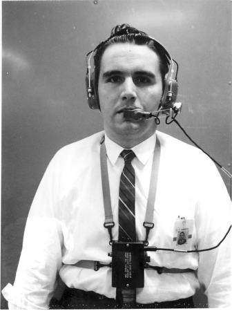 I worked at RCA in Cambridge, Ohio in the early 1960s, developing audio intercommunication systems for the US military. I am displaying a voice communication system for use in high noise environments.