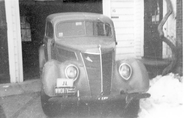 My sister Joan and I learned to drive in this 1937 Ford (AKA 'The Heap') our parents bought for this purpose. With care managing engine speed, it was possible to upshift without using the clutch. Were it not for my quick braking action, Joan would have driven through the garage wall as I was giving driving lesson.