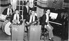Jim Lacey (drums) with Hermon Knights dance combo. Our Band played for Northfield & Mount Hermon school dances.<br /> 1950 Photo