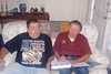 During the summer of 2005, I created the Lacey Family Scrapbook - a history of the Southbridge, MA Lacey family. Photos, letters, articles etc. were collected from my Brother John V. Lacey and my sister Joan [Lacey] Tallman. Here I am presenting a copy to brother John at our home in Paris, TN.