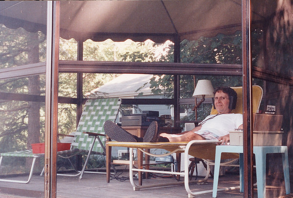 Listening to music in our backyard screenhouse (especially the Boston Symphony from Tanglewood) was always a pleasant way to enjoy summer days.