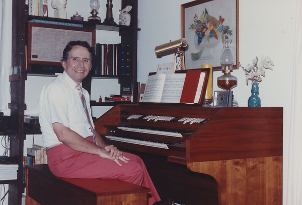 I built this Schoeber two manual and pedal electronic organ from a kit as I wanted to learn to play the organ. Turns out building was easier than playing, so I donated organ to local church a few years later.