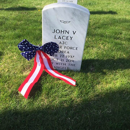 John VanCleve Lacey, brother of Jim Lacey and Joan Tallman Served the USA in the Air Force. John married Joanna and they gave birth to Lisa (Lacey) Gruss of Indiana.