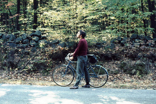 Bicycling became my sport of choice in my 50's. <br /> Here I am marking my first 1000 miles on my first (3-speed!) bicycle.