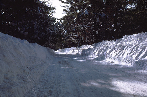 There have been substantial snowfalls on Vose Road.