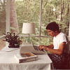 My first computer was a 1980 Hewlett-Packard HP-85 [$3600!], essentially a Basic language compiler. I had written my first Basic program in 1963 and have been active with computers ever since. This was my summer 'office' in Westford MA.