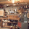 The most ambitious of my many workshops. I designed and built this workbench in Ft Wayne circa 1960.  This then is a photo history of my 'Workspaces'.