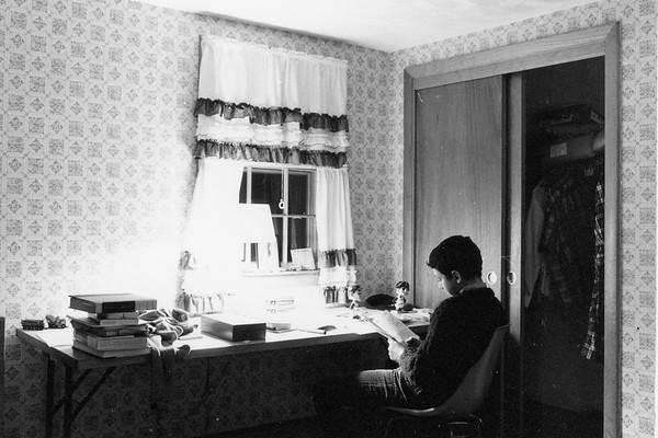 Jim IV at his Westford MA homework workspace
