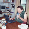 Jim III at his 'summer office' at son Frank's home in McKenzie TN. Active in quality control database development during the 1990's as JAMAR Associates, I was always busy .