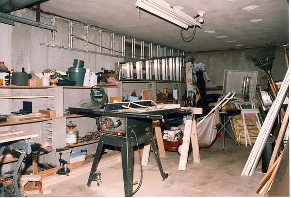 The woodworking shop (AKA garage)