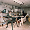 The woodworking shop (AKA garage)