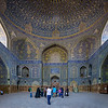 Inside the Imam Mosque in Isfahan
