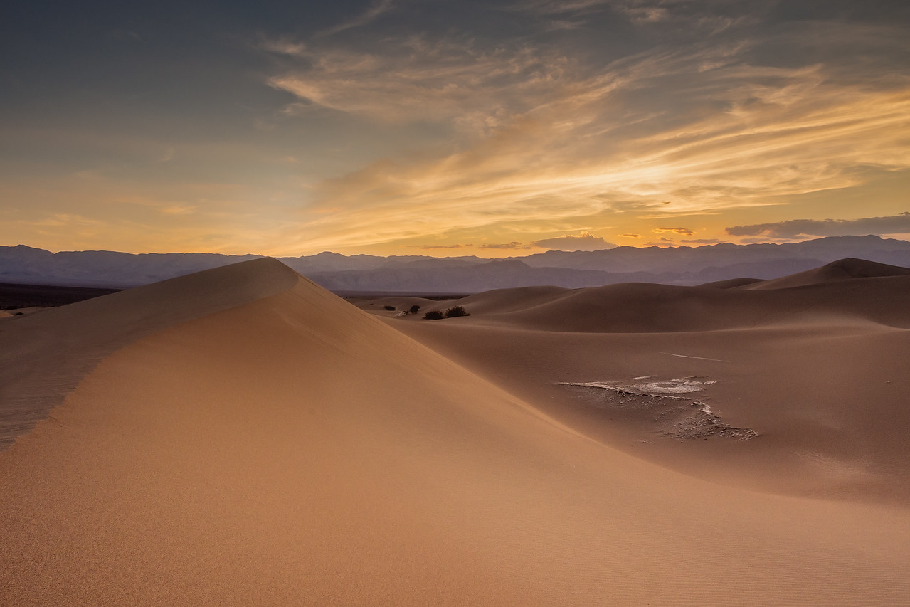Sunset at Death Valley, Nevada USA