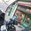 reflection in motorcycle mirror in jerome arizona
